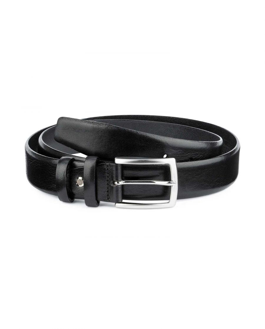 Black-Vegetable-Tanned-Leather-Belt-Capo-Pelle-Main-picture