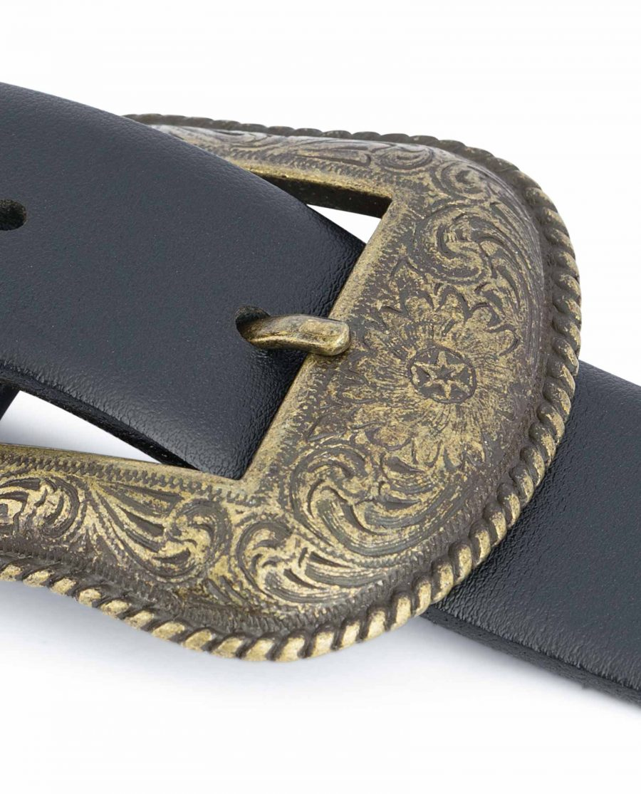 Black-Western-Belt-Mens-Bronze-Belt-Buckle-Floral-emboss.jpg