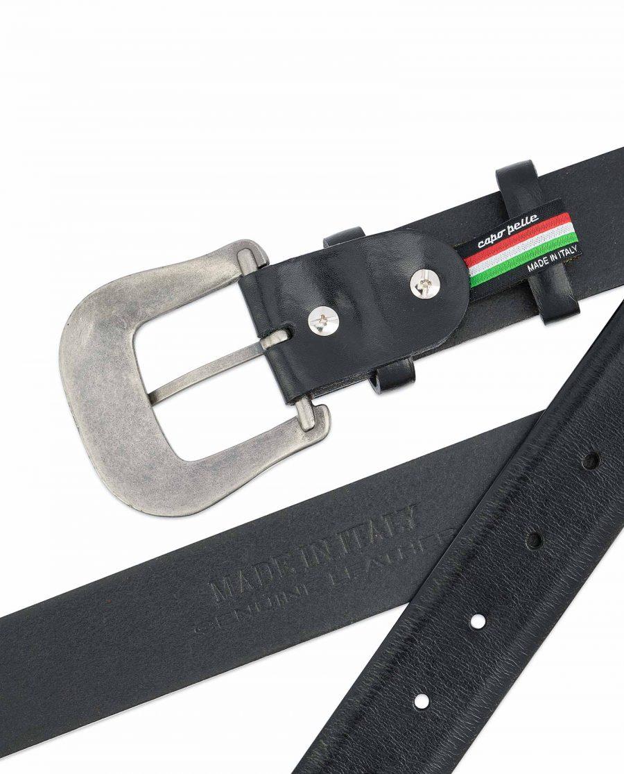 Black-Western-Belt-Mens-Veg-Tan-Leather-Hot-stamp