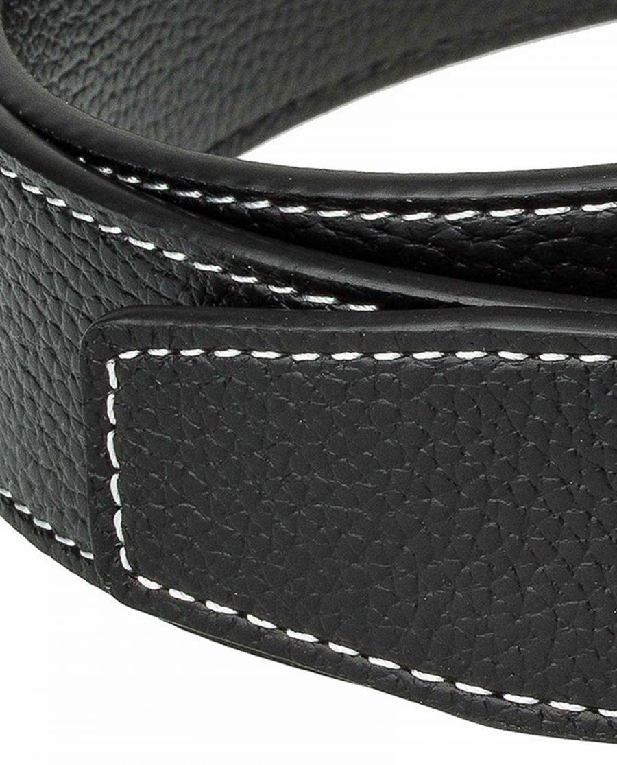 Black-h-belt-strap-wide-end