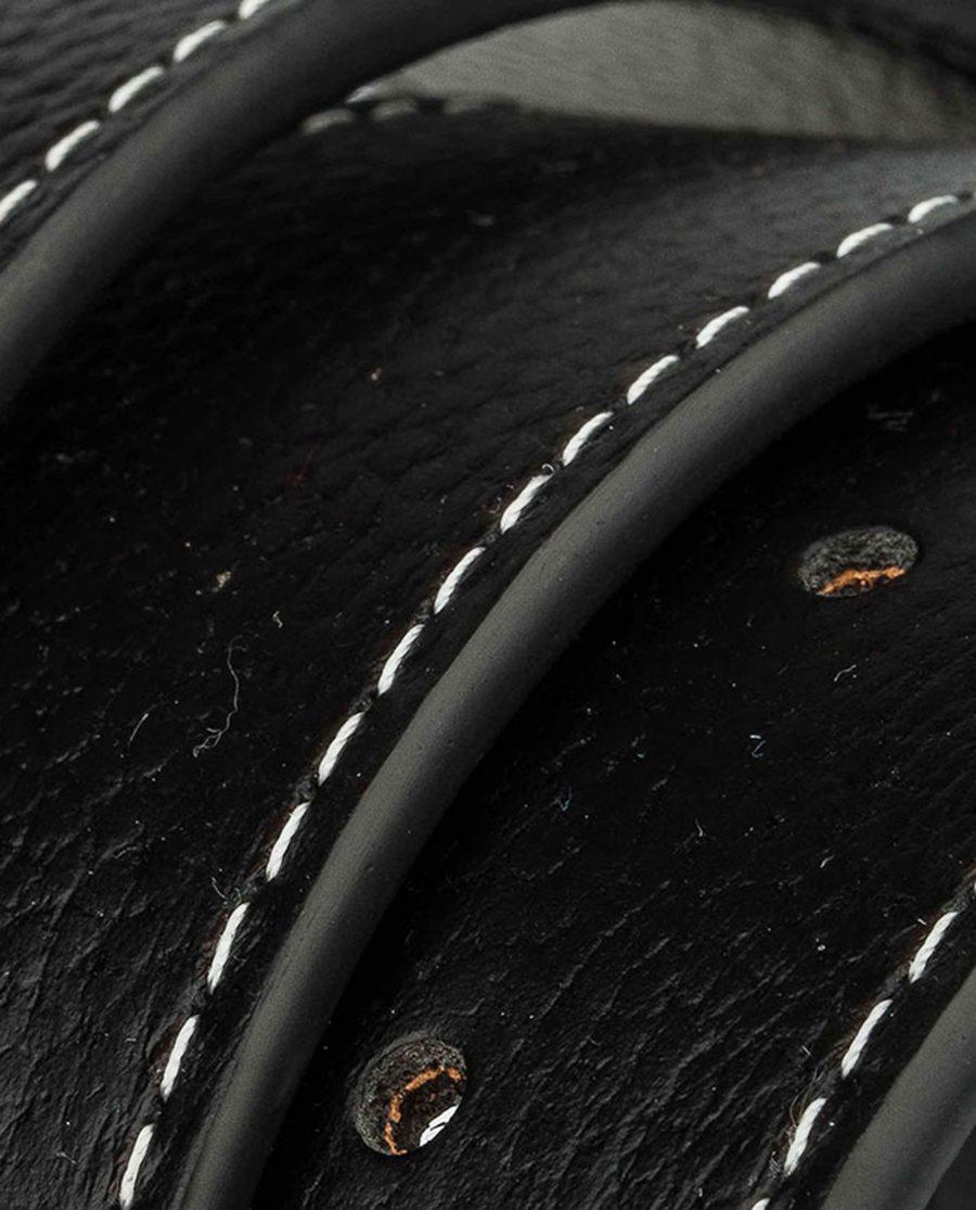 Black-h-belt-strap-wide-rolled
