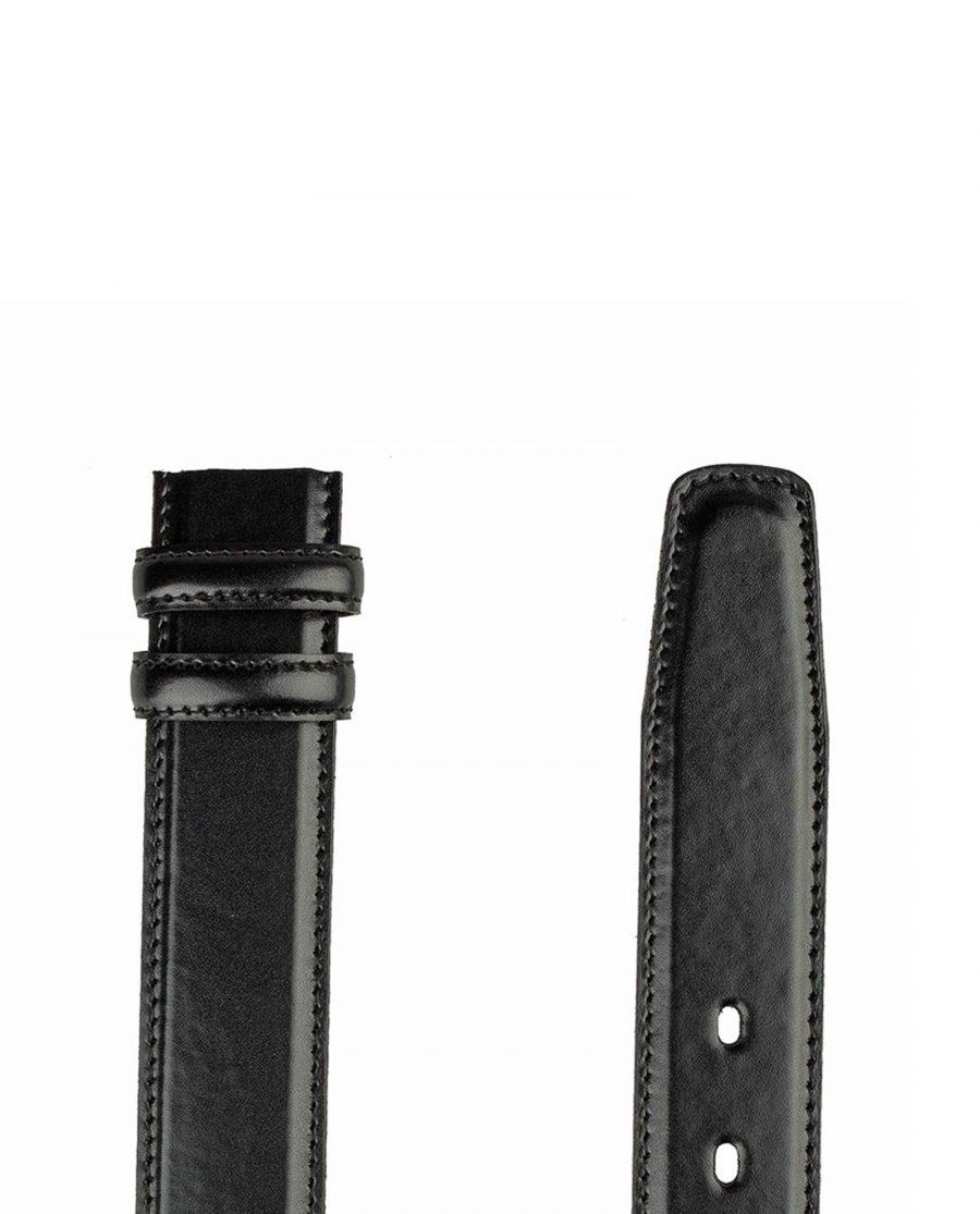 Black-nappa-belt-strap-cut-end
