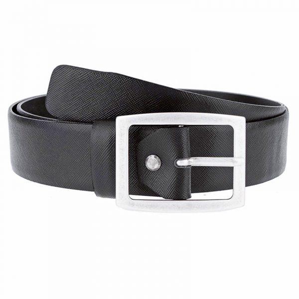 Black-saffiano-jeans-belt-buckle