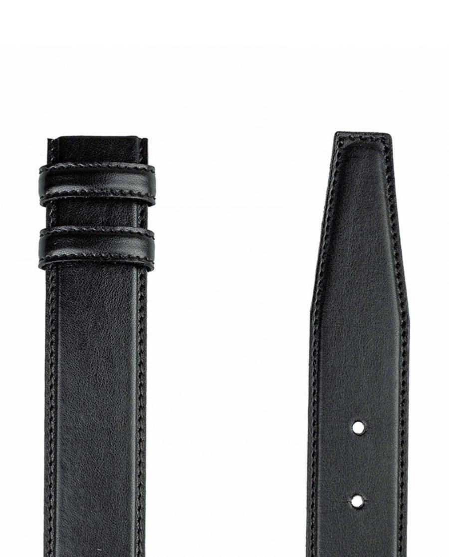 Black-soft-belt-strap-cut-end