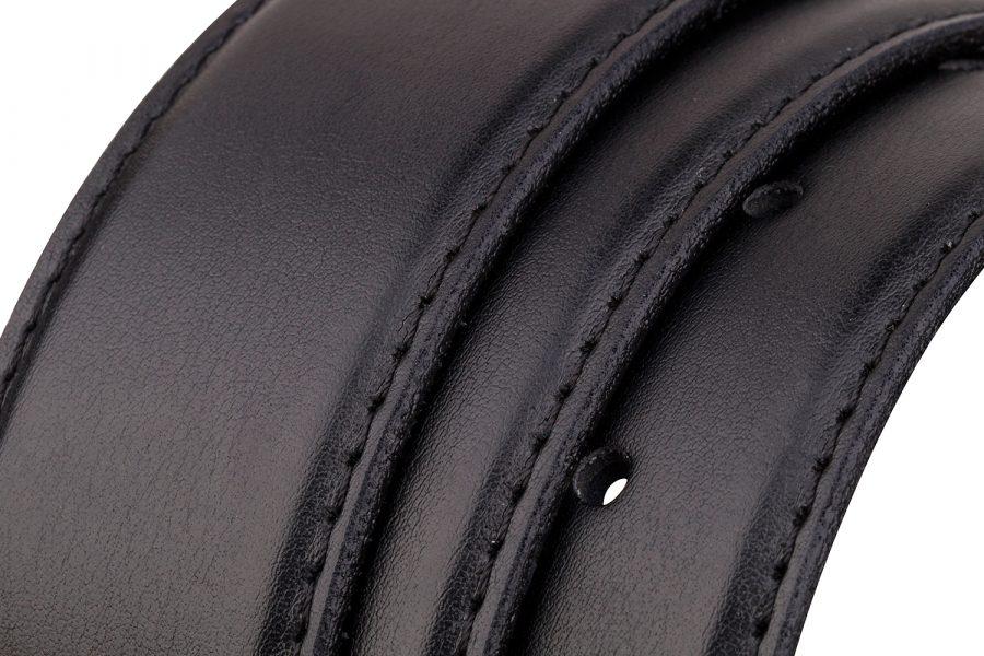 Black-soft-belt-strap-cut-rolled
