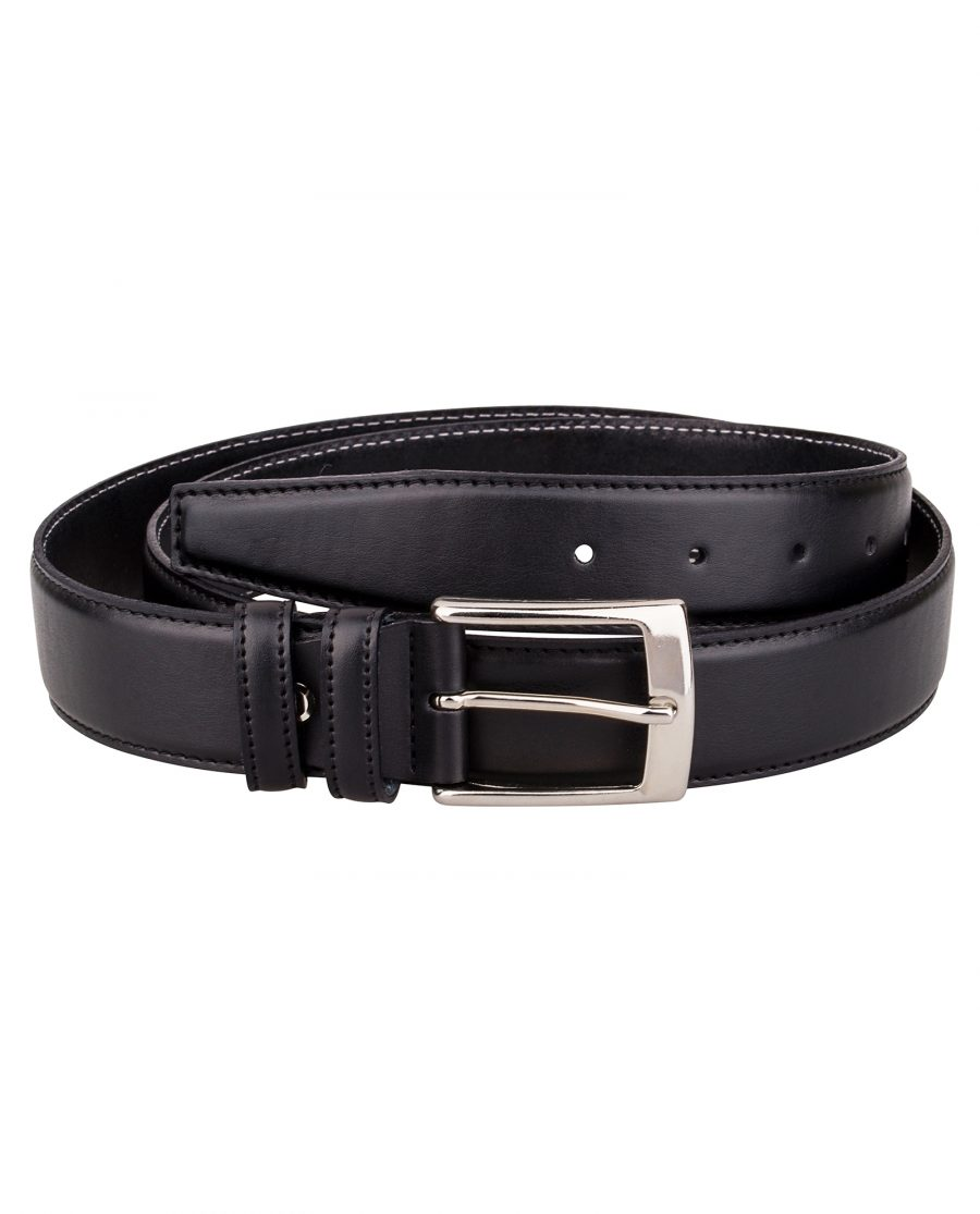 Black-soft-dress-belt