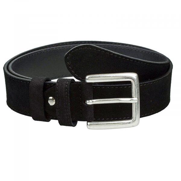 Black-suede-classic-belt