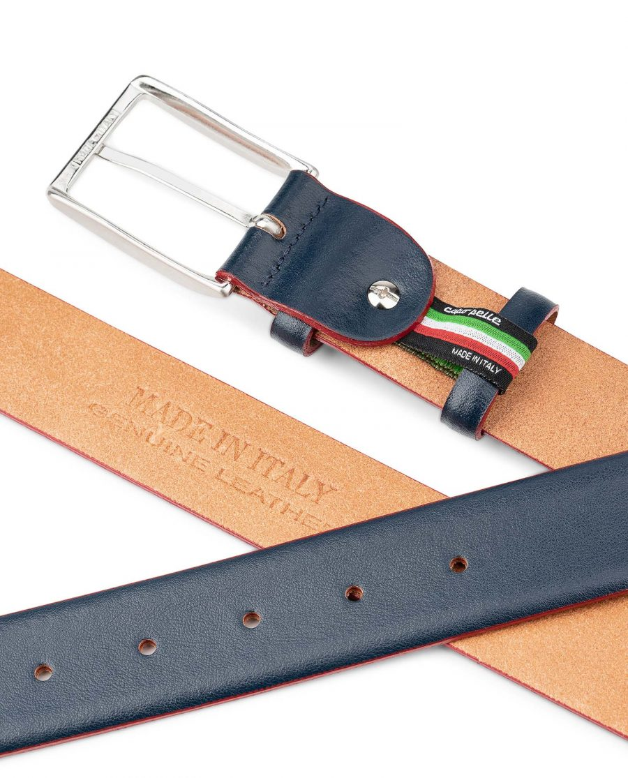 Blue-Leather-Belt-With-Red-Edges-Mens-by-Capo-Pelle-Heat-stamp