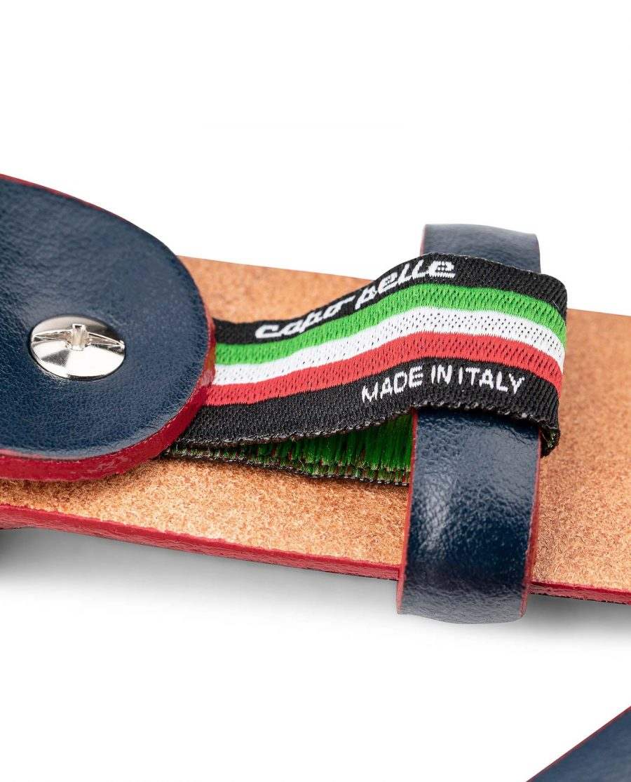 Blue-Leather-Belt-With-Red-Edges-Mens-by-Capo-Pelle-Made-in-Italy