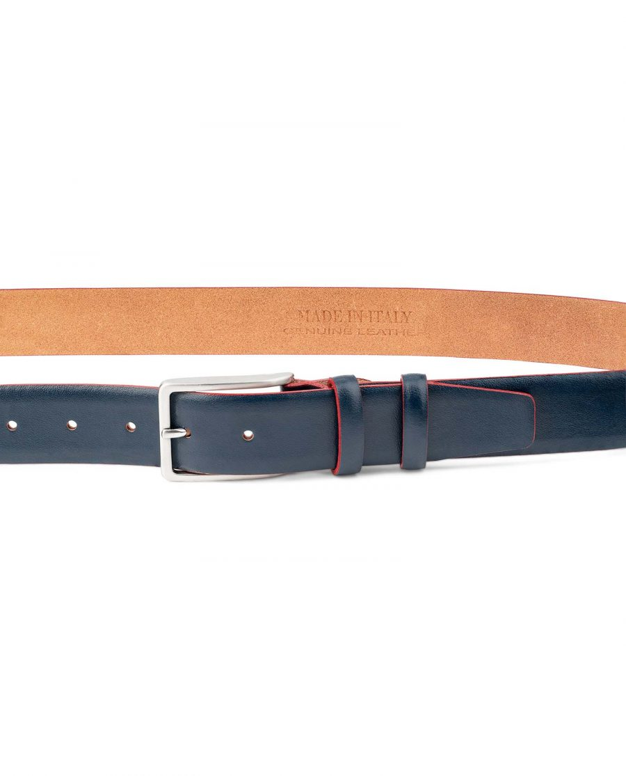 Blue-Leather-Belt-With-Red-Edges-Mens-by-Capo-Pelle-on-Trousers