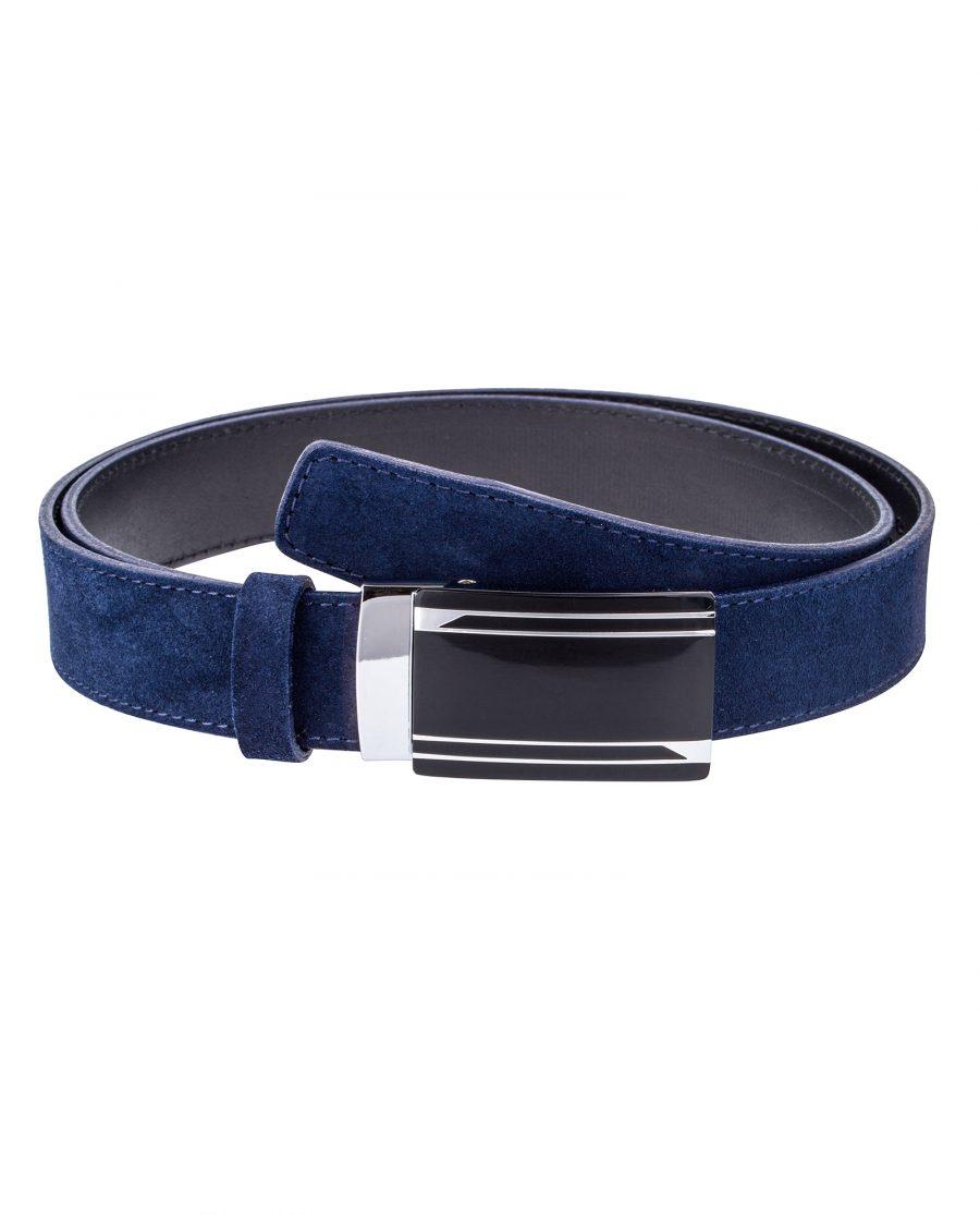 Blue-Suede-Automatic-Belt-Front-image