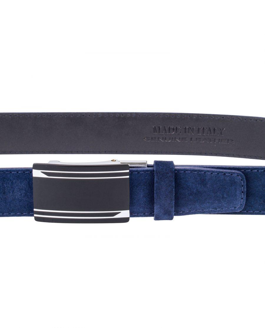 Blue-Suede-Automatic-Belt-On-pants