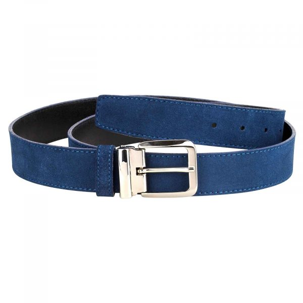 Blue-Suede-Belt-Italian-Buckle-Main-picture