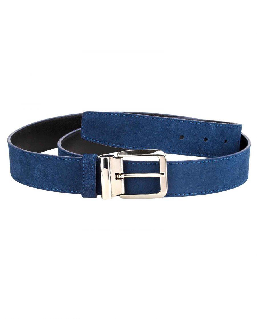 Blue-Suede-Belt-Italian-Buckle-Main-picture