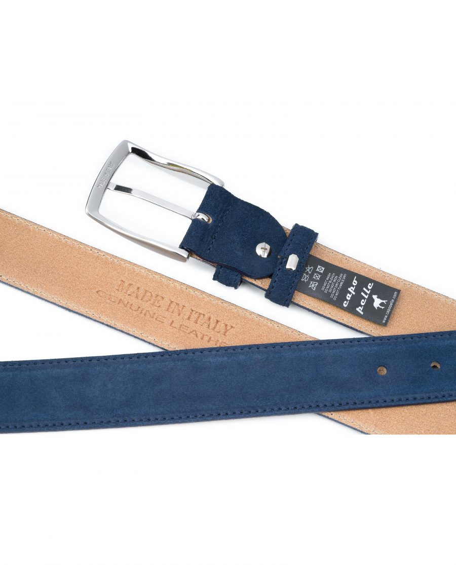 Blue-Suede-Belt-Navy-Genuine-Italian-Leather-Capo-Pelle-Tags