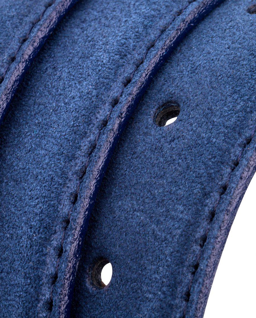 Blue-Suede-Belt-Strap-Rolled