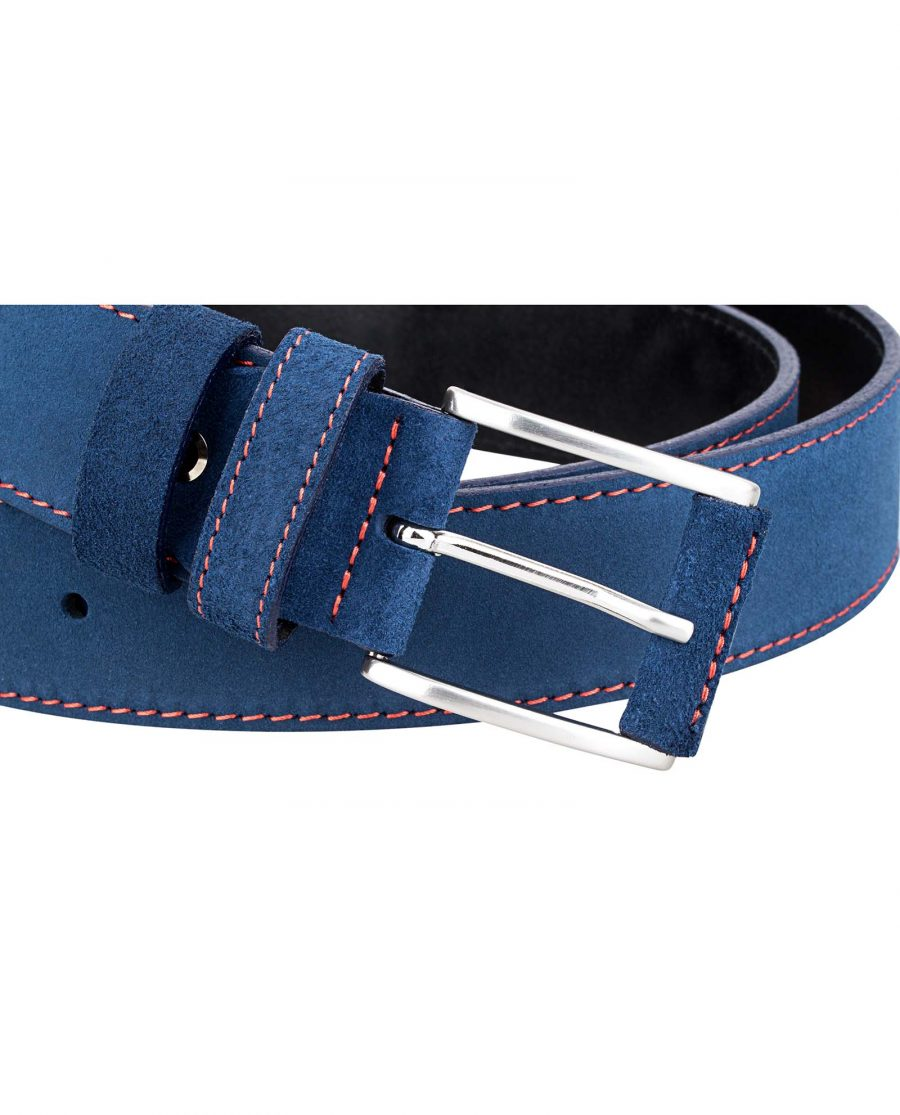 Blue-Suede-Belt-by-Capo-Pelle-Buckle-picture
