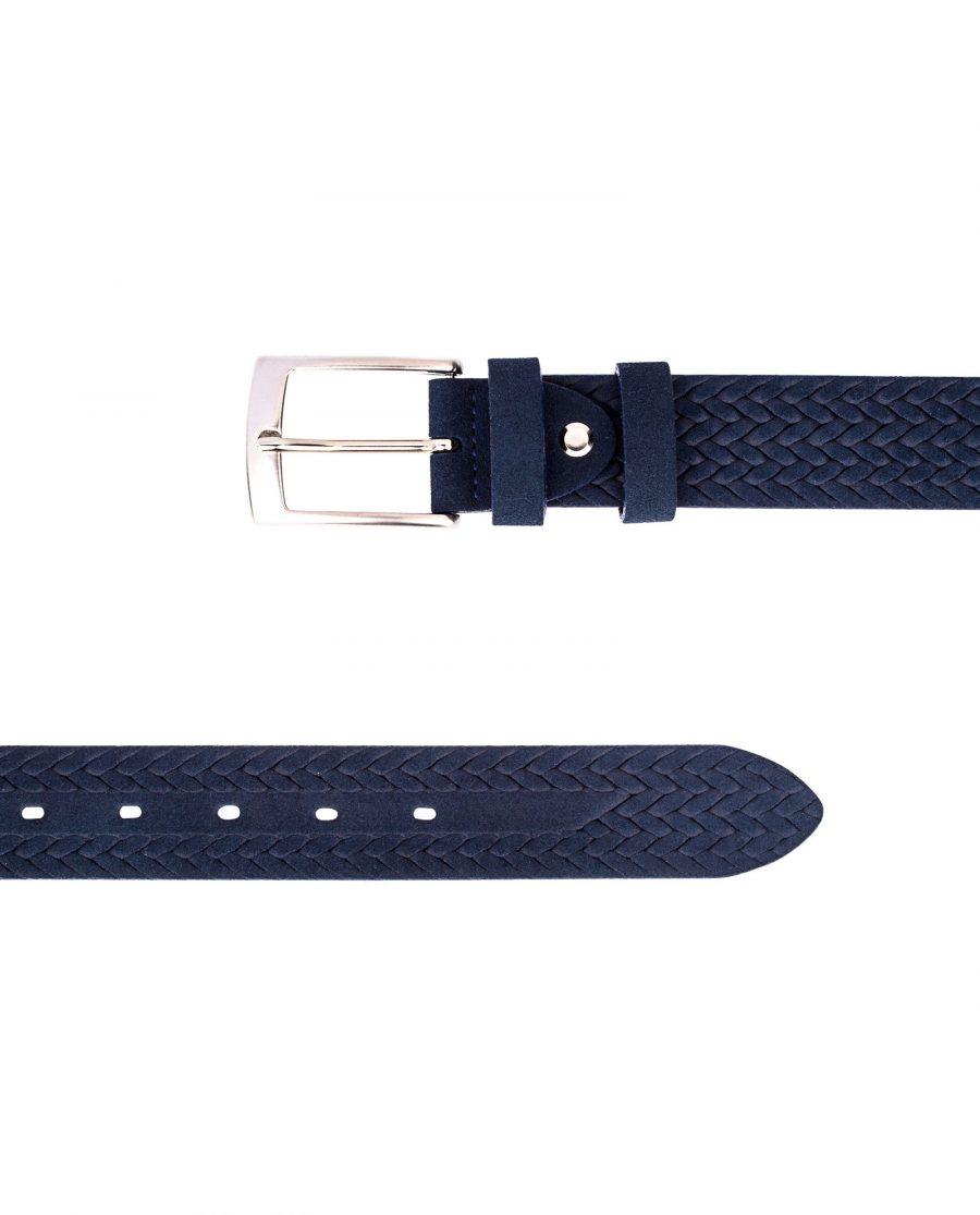 Blue-Suede-Braided-Belt-Both-ends