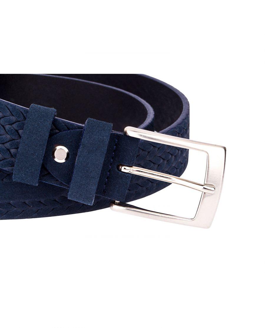 Blue-Suede-Braided-Belt-Buckle-image