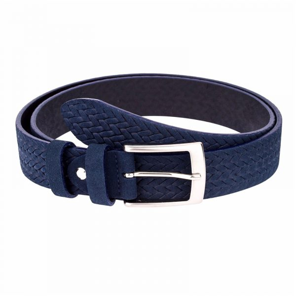 Blue-Suede-Braided-Belt-Main-picture