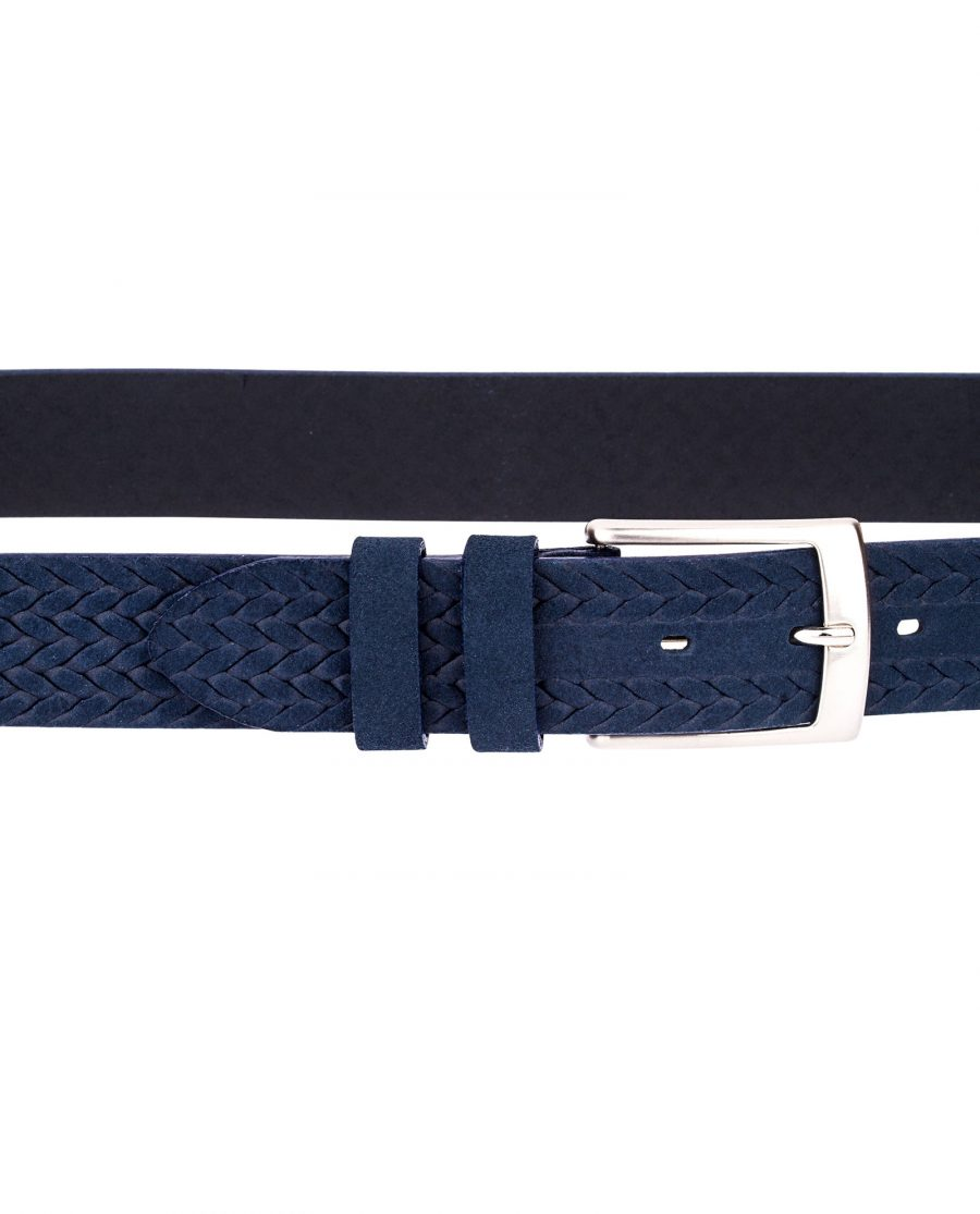 Blue-Suede-Braided-Belt-On-pants