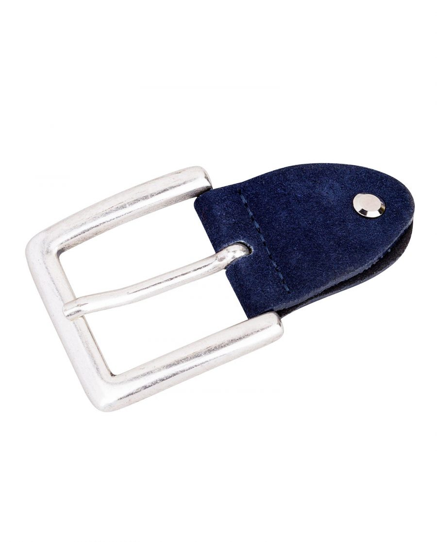 Blue-Suede-Jeans-Belt-Buckle-Front-image