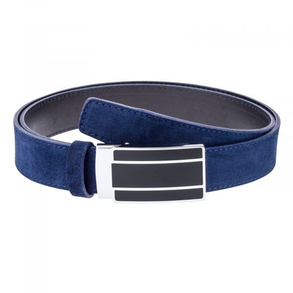 Blue-Suede-Ratchet-Belt-First-picture