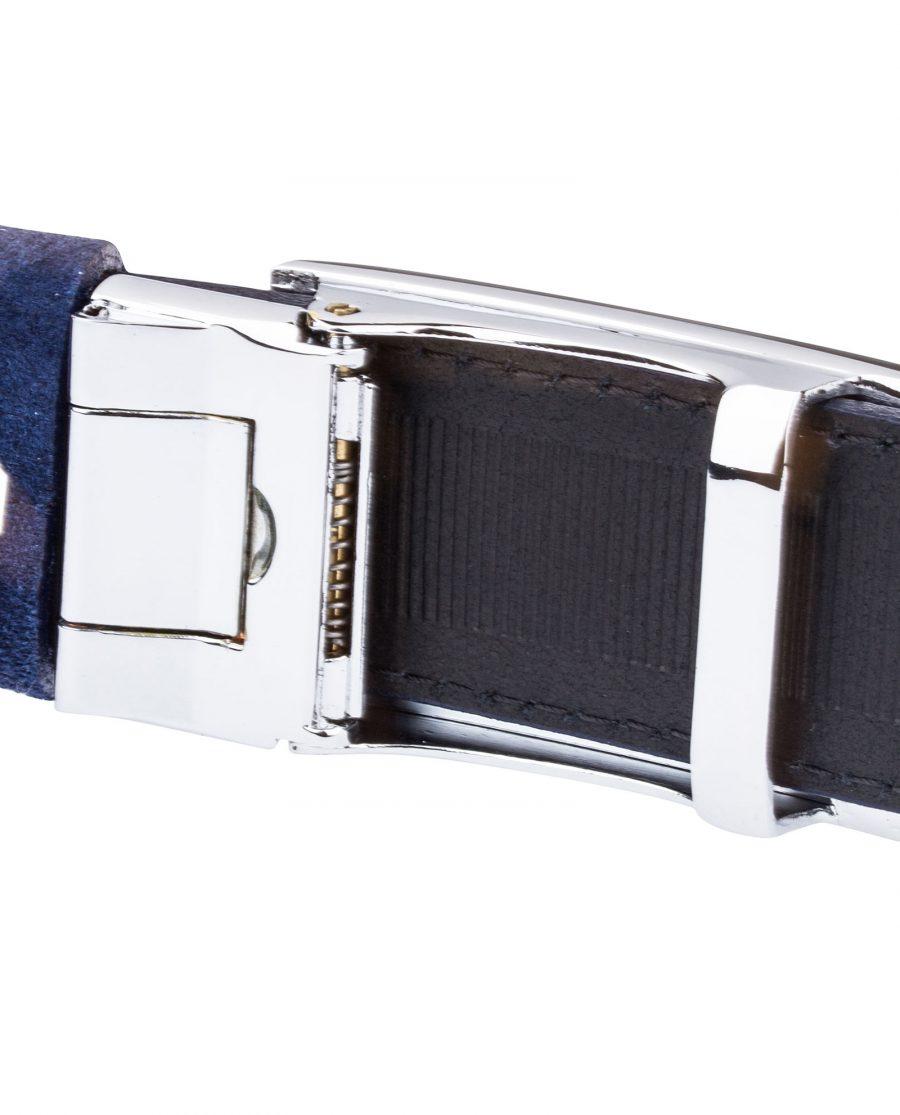 Blue-Suede-Ratchet-Belt-Reverse