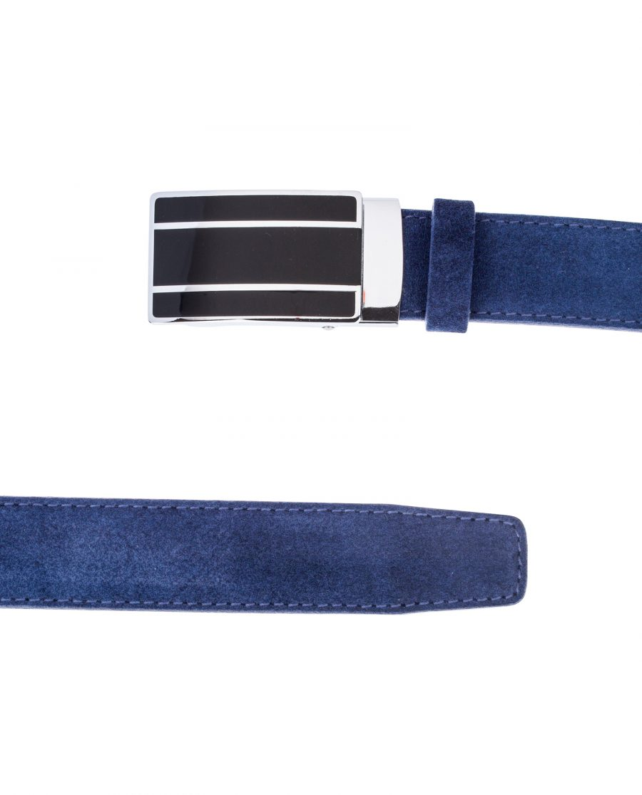 Blue-Suede-Ratchet-Belt-View-from-top