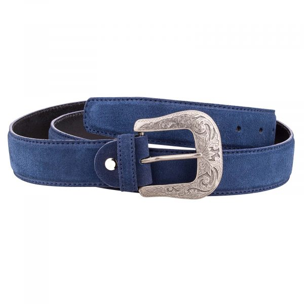 Blue-Suede-Western-Belt-Main-picture