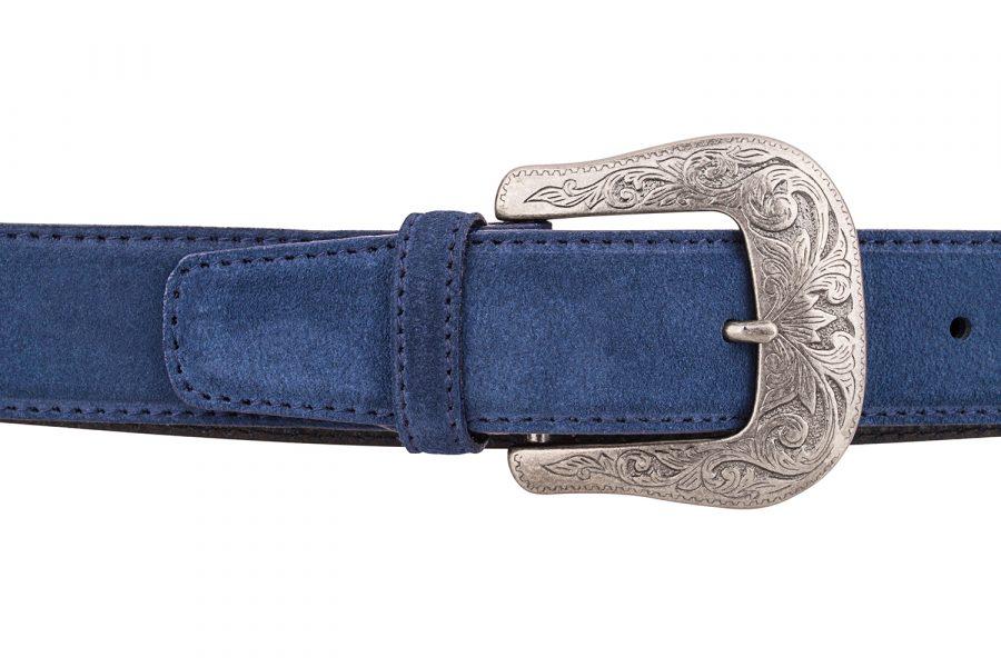 Blue-Suede-Western-Belt-On-jeans
