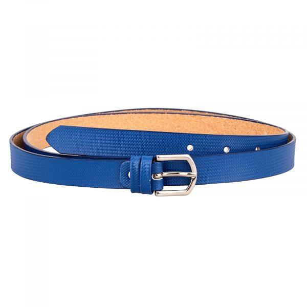 Blue-Wave-Print-Skinny-Belt-Front-Image