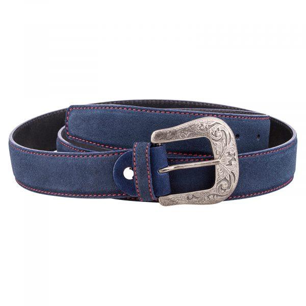 Blue-Western-Leather-Belt-First-image