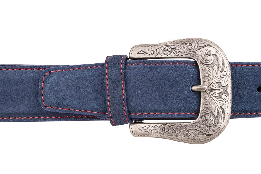 Blue-Western-Leather-Belt-On-pants