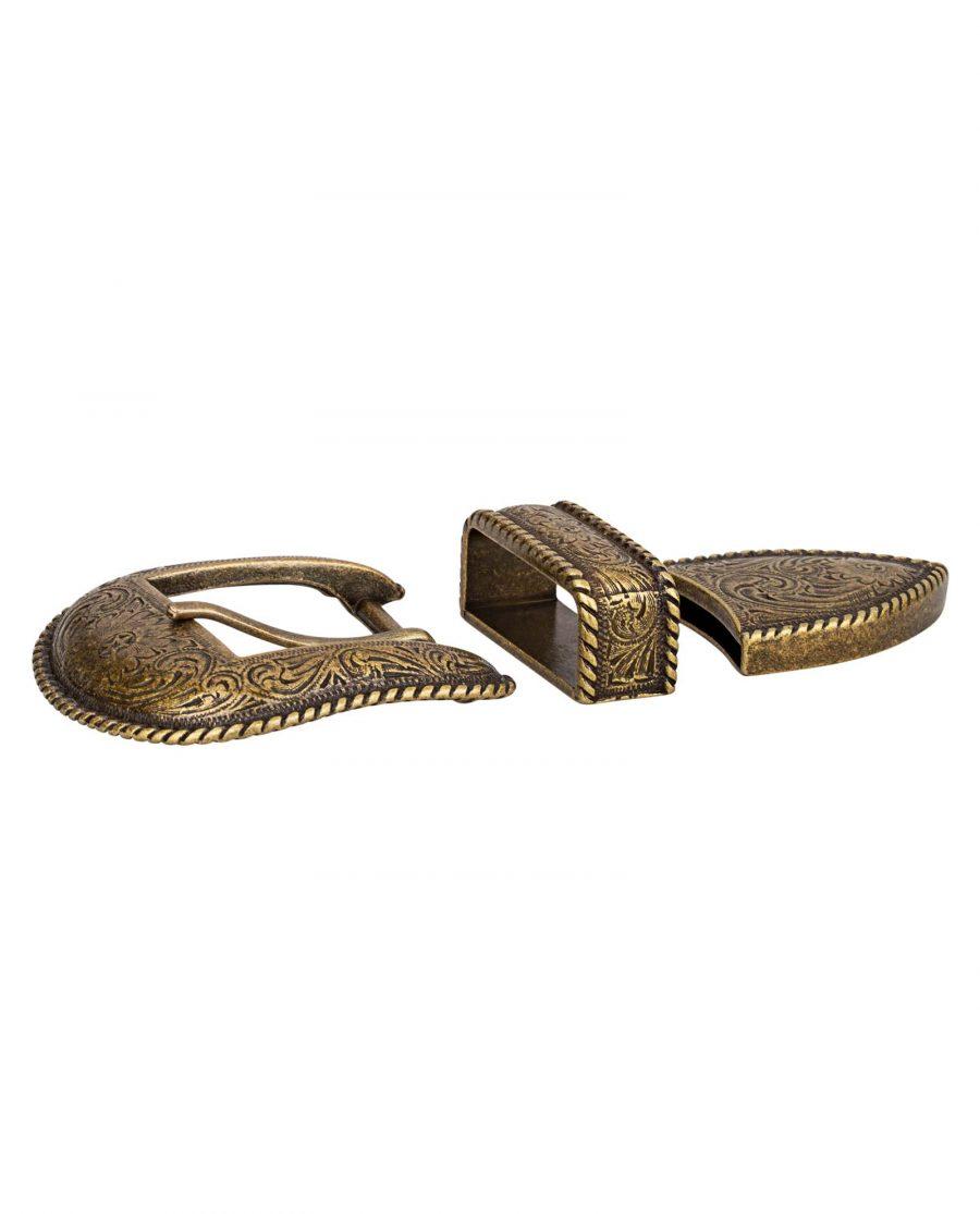 Bronze-Belt-Buckle-Cowboy-set-From-side