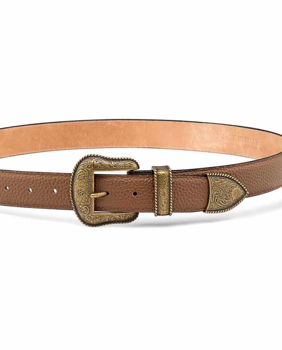 Bronze-Belt-Buckle-Western-Belt-On-jeans