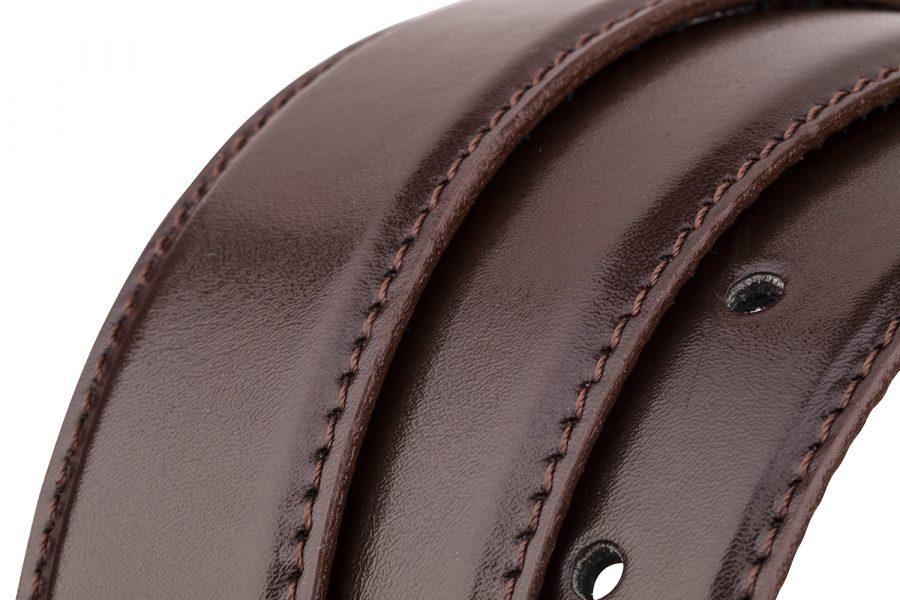 Brown-Belt-Strap-Narrow-Rolled