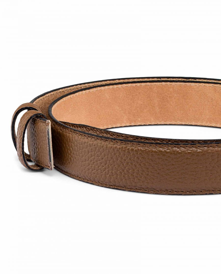 Brown-Cow-Leather-Belt-Strap-Buckle-attachment