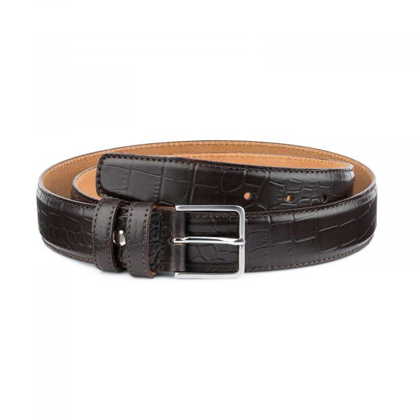 Brown-Croc-Belt-for-Men-by-Capo-Pelle-First-picture