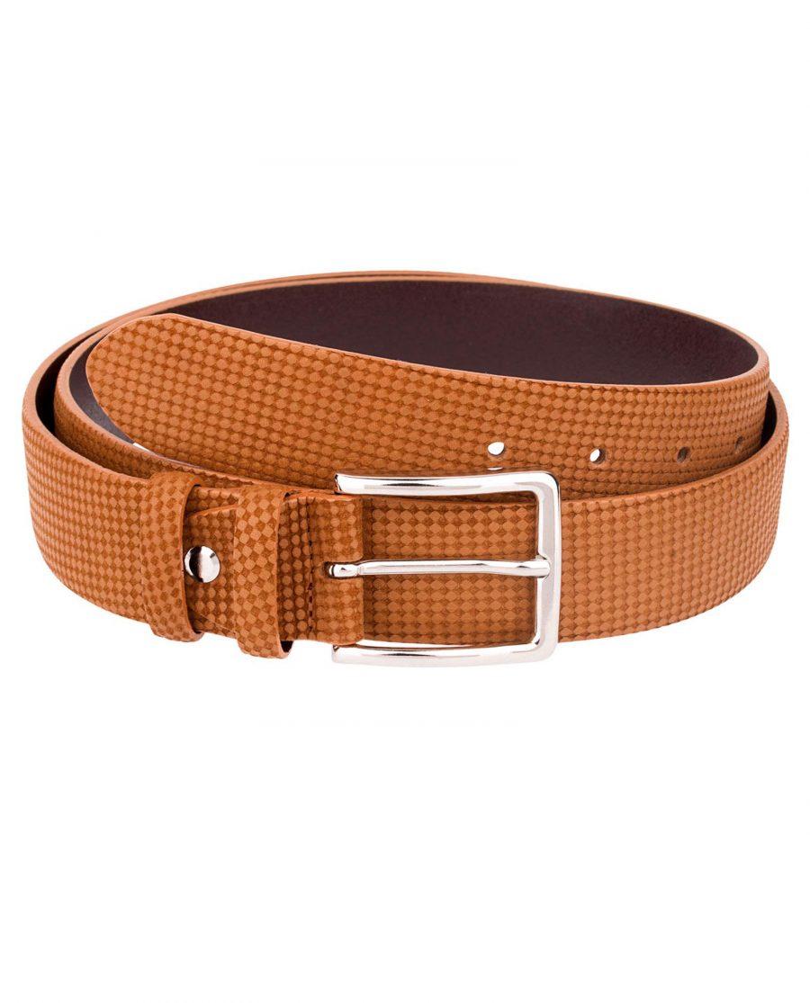Brown-Leather-Belt-Laser-Nubuck-Front-image