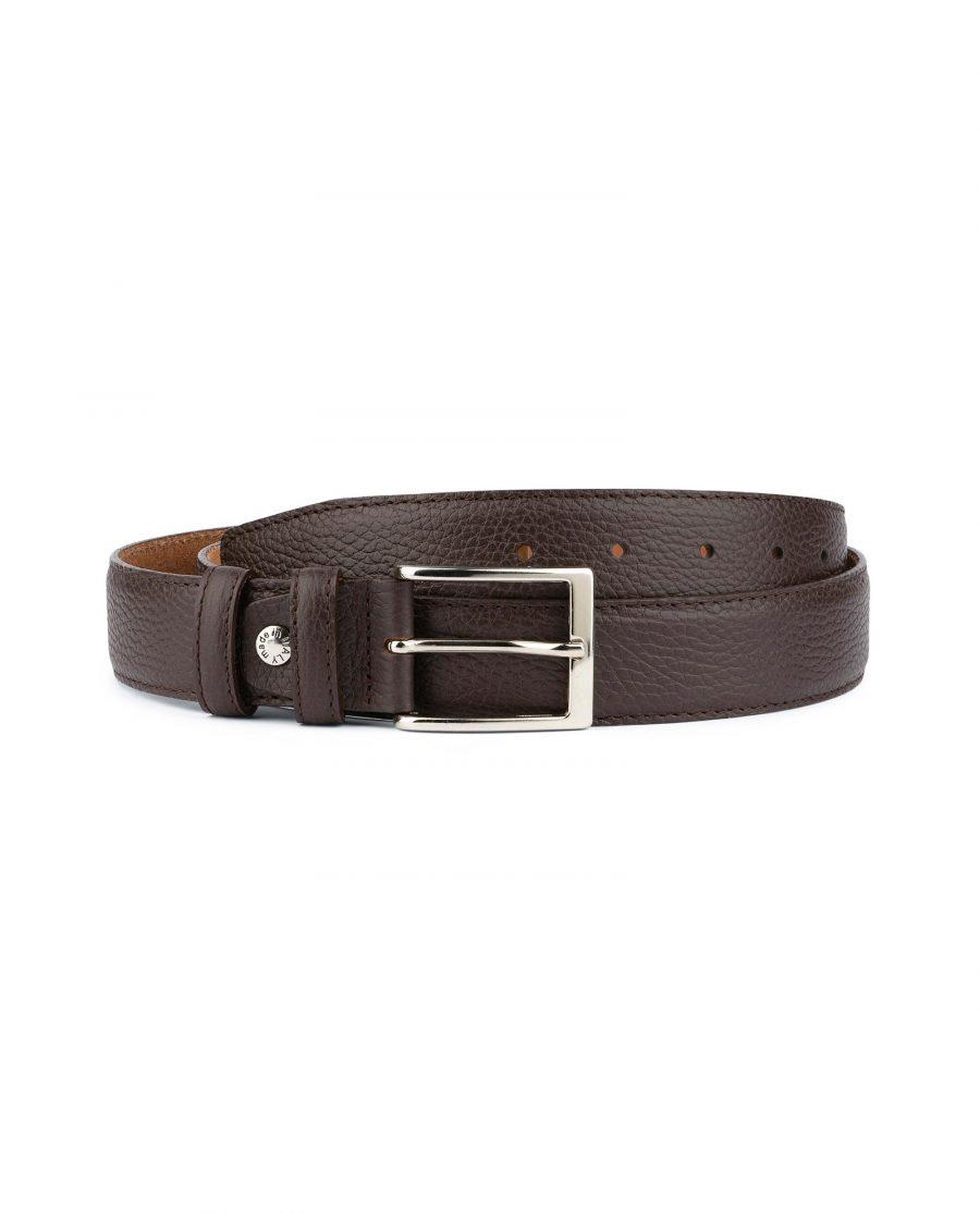 Brown Leather Belt for Men 1