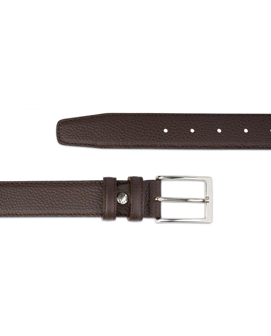 Brown Leather Belt for Men 2