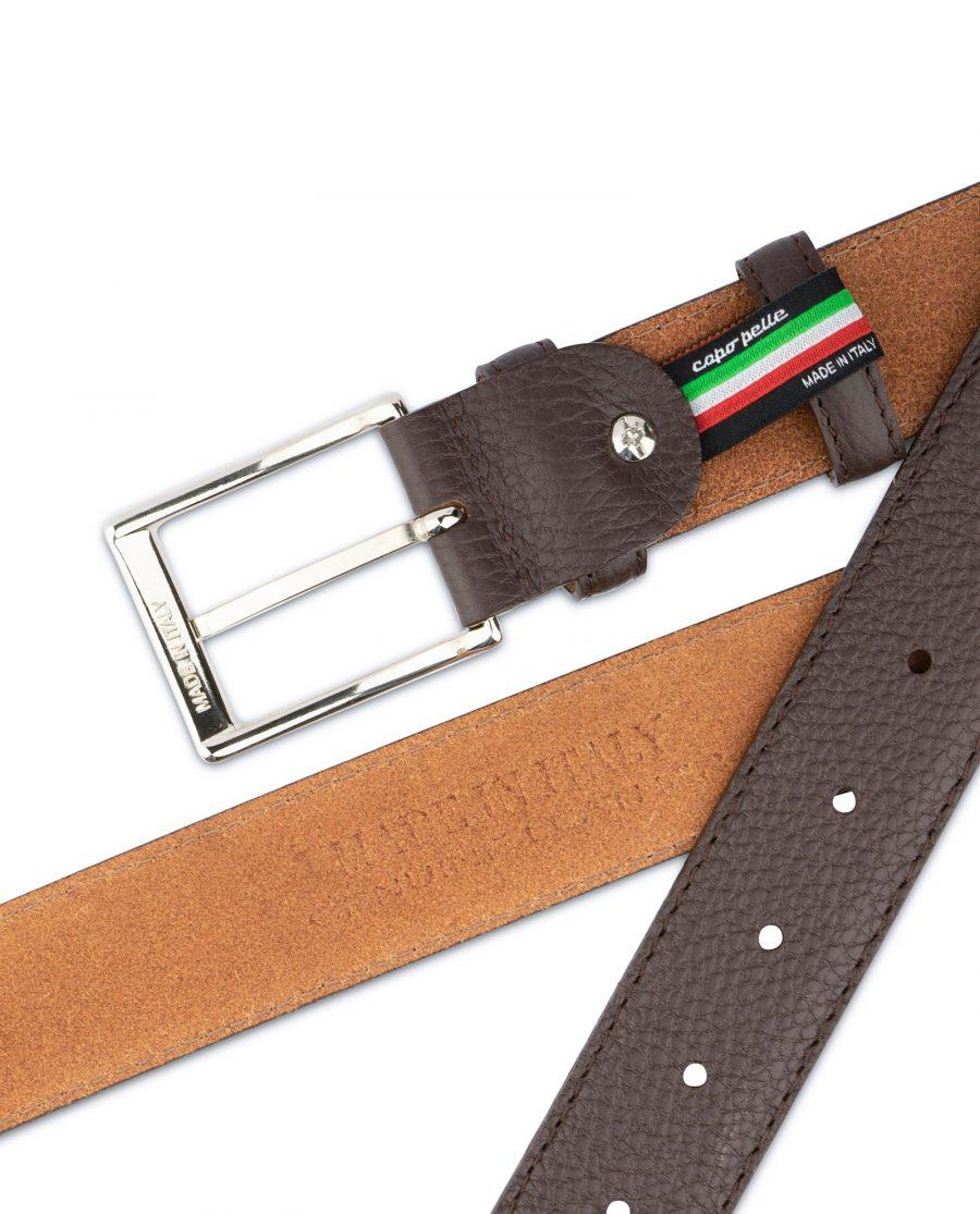 Brown Leather Belt for Men 5