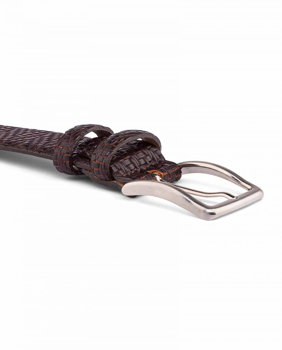 Brown-Mens-Formal-Belt-Exclusive-by-Capo-Pelle-Buckle-image
