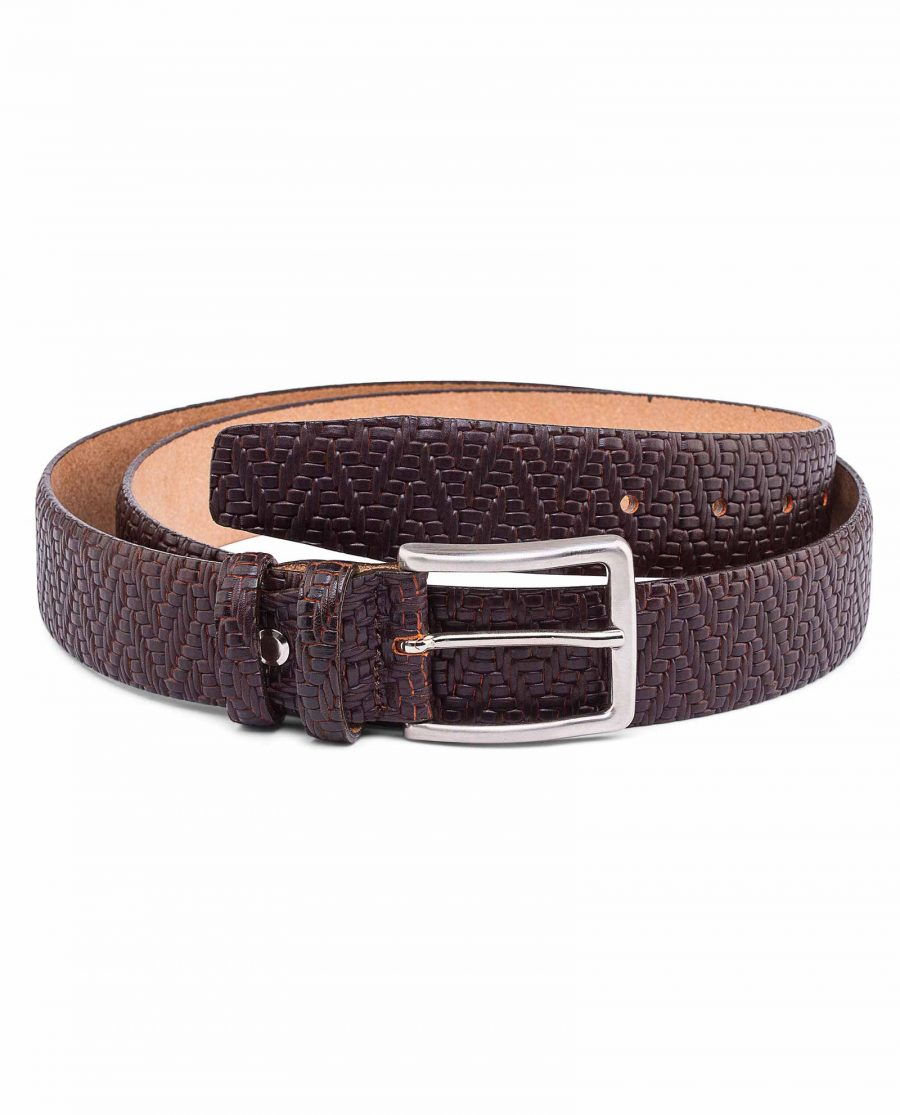 Brown-Mens-Formal-Belt-Exclusive-by-Capo-Pelle-Main-picture