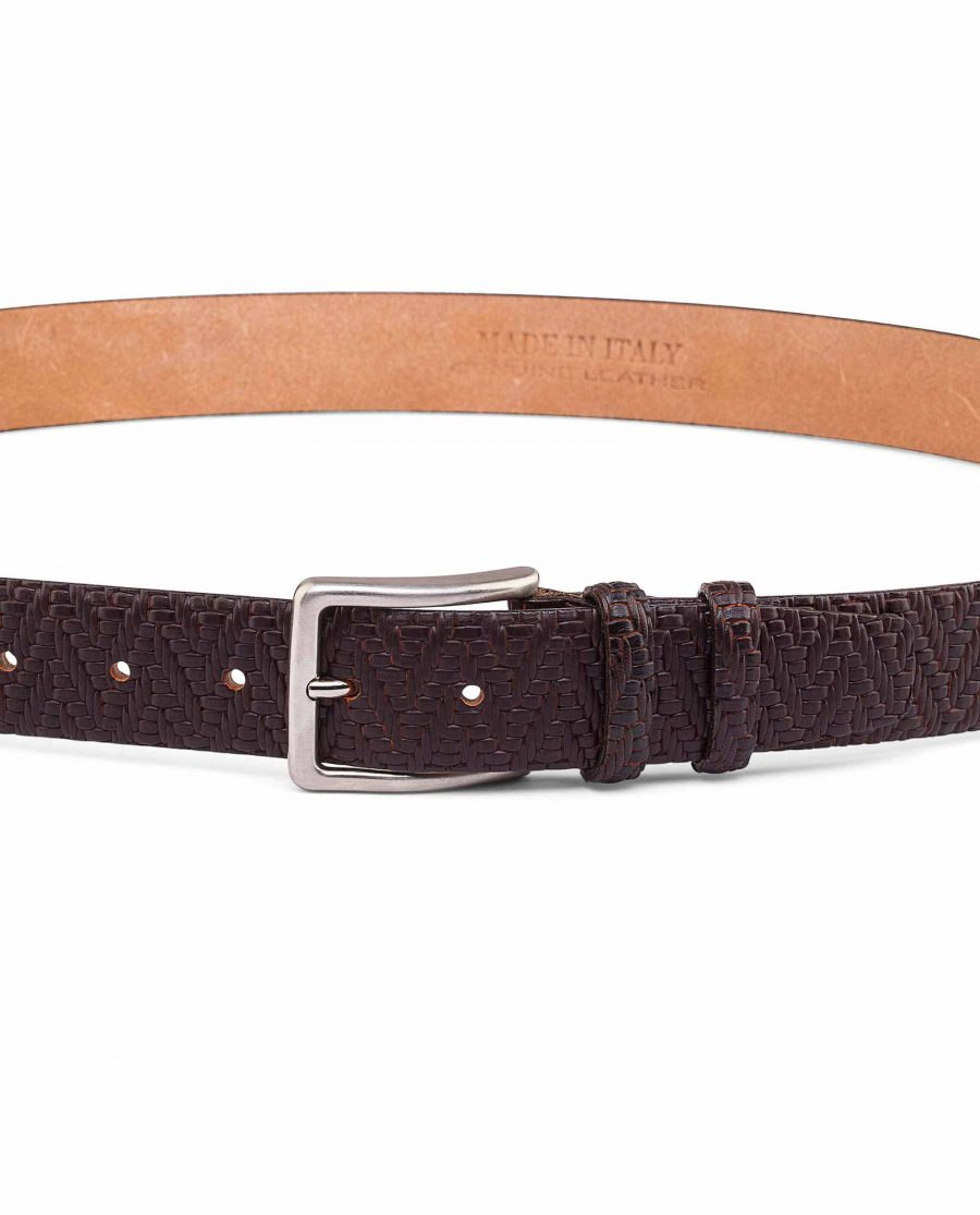 Brown-Mens-Formal-Belt-Exclusive-by-Capo-Pelle-On-trousers