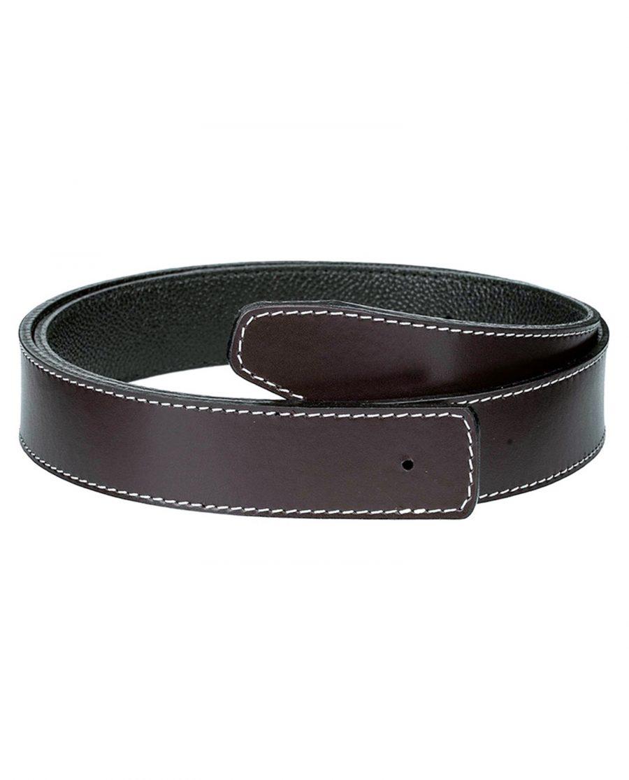Brown-h-belt-strap-narrow
