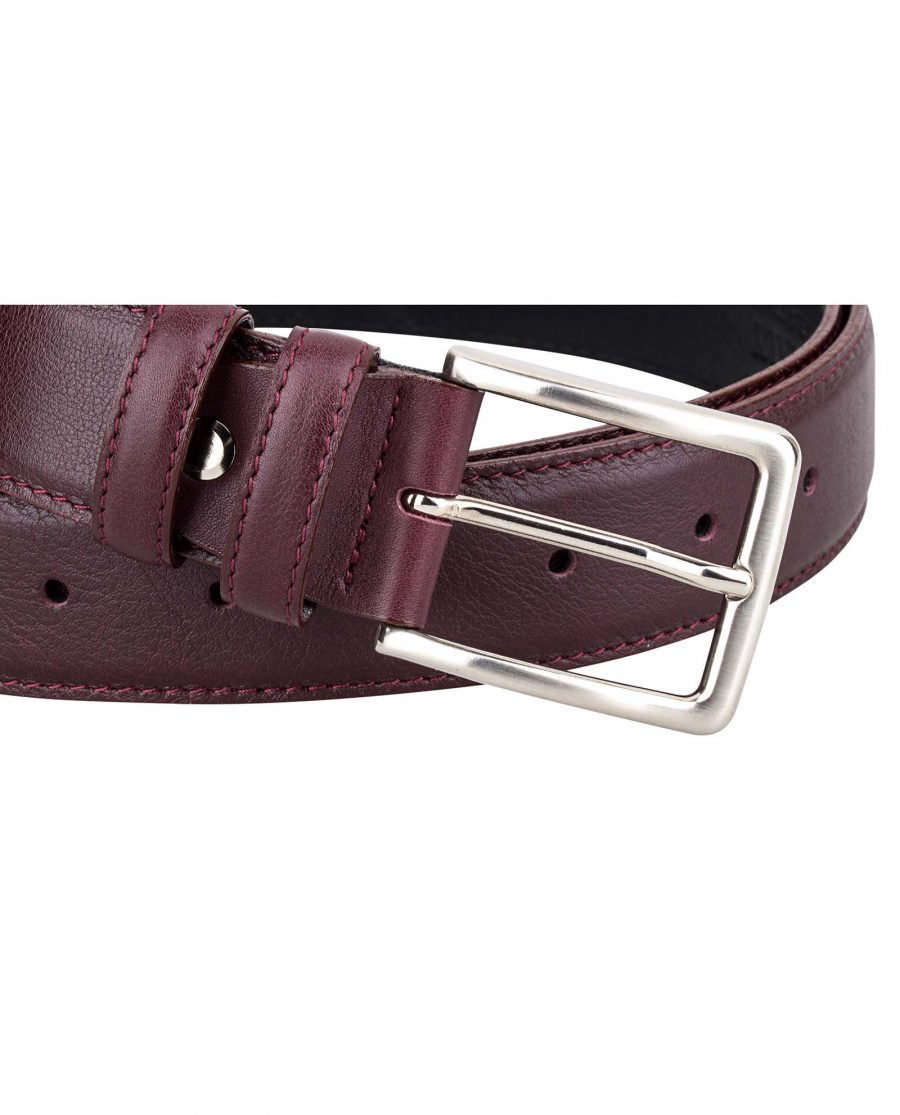Burgundy-Belt-First-image-Buckle-picture