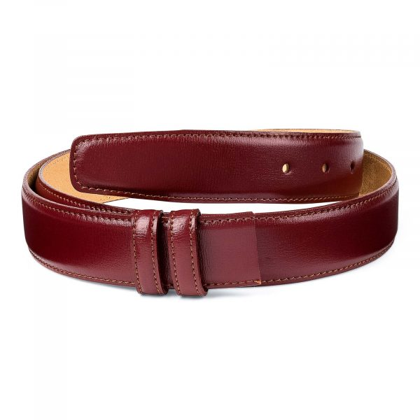 Burgundy-Belt-No-Buckle-Strap-Main-picture