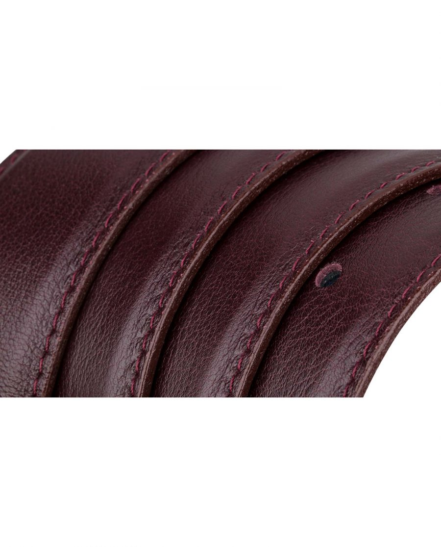 Burgundy-Belt-Strap-Rolled-strap